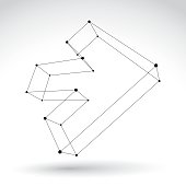 3d mesh black and white forward arrow
