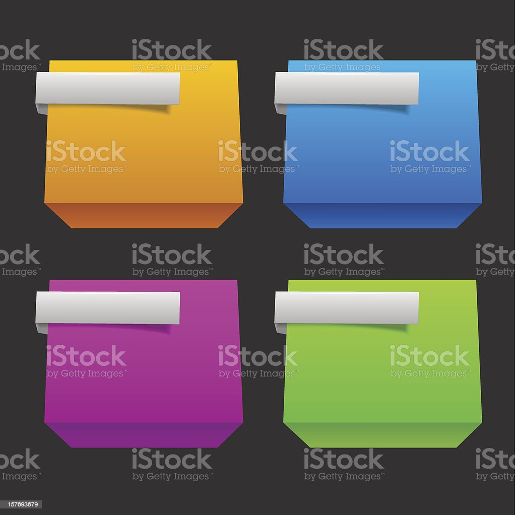 3d origami banners royalty-free stock vector art