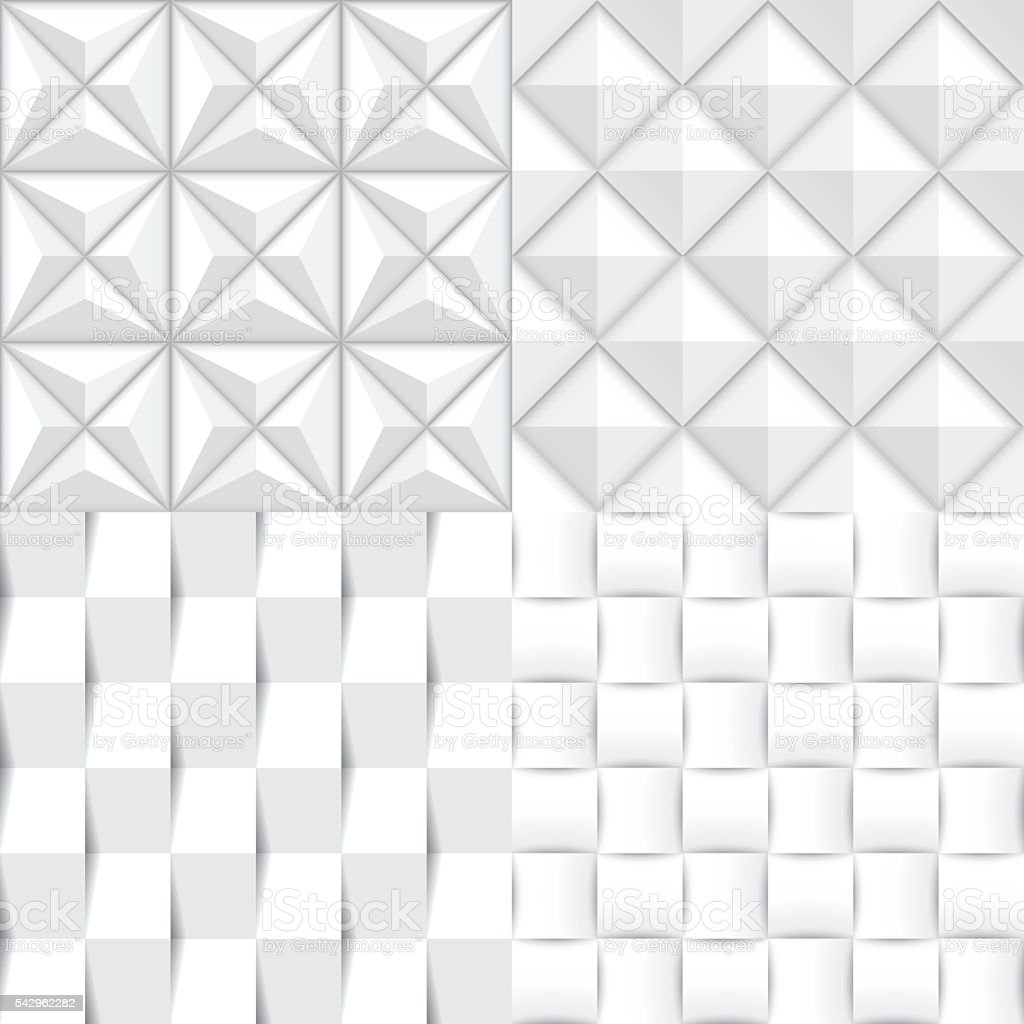 3d paper pattern vector art illustration
