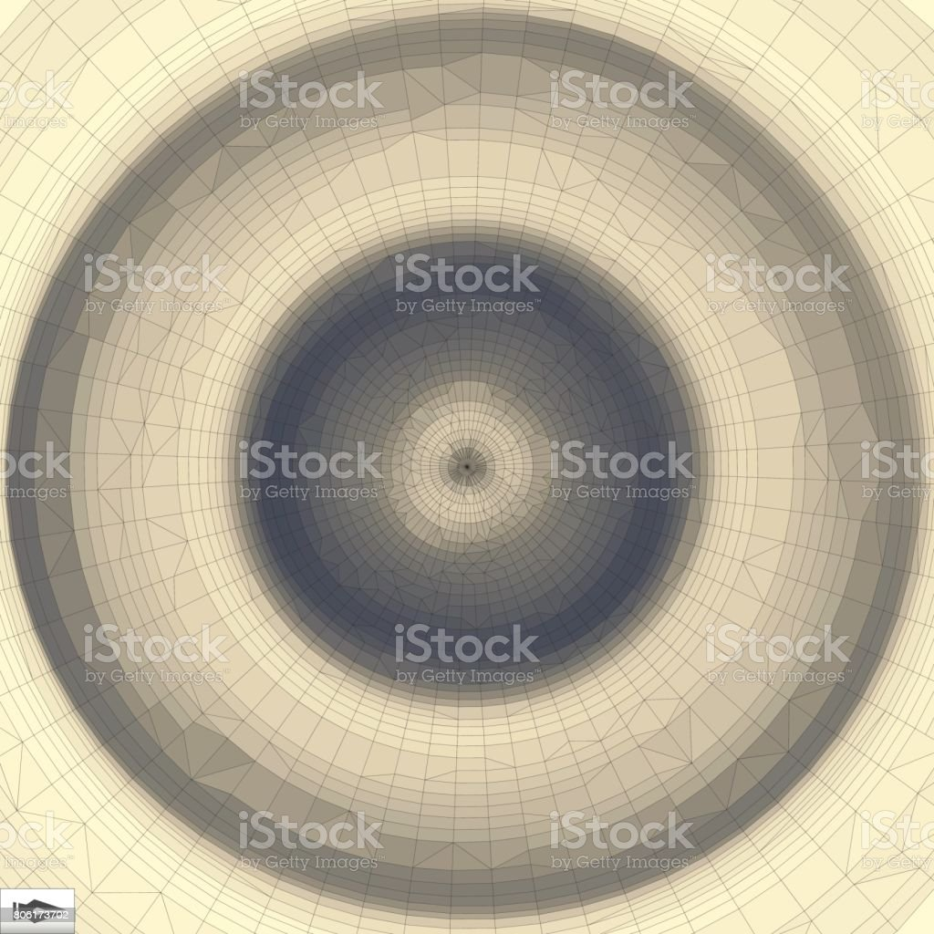 3d Perspective Grid Background Texture. Mosaic. Lattice Effect. vector art illustration