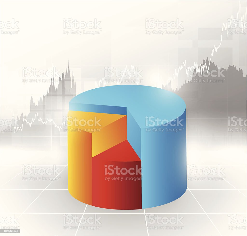 3d pie chart royalty-free stock vector art
