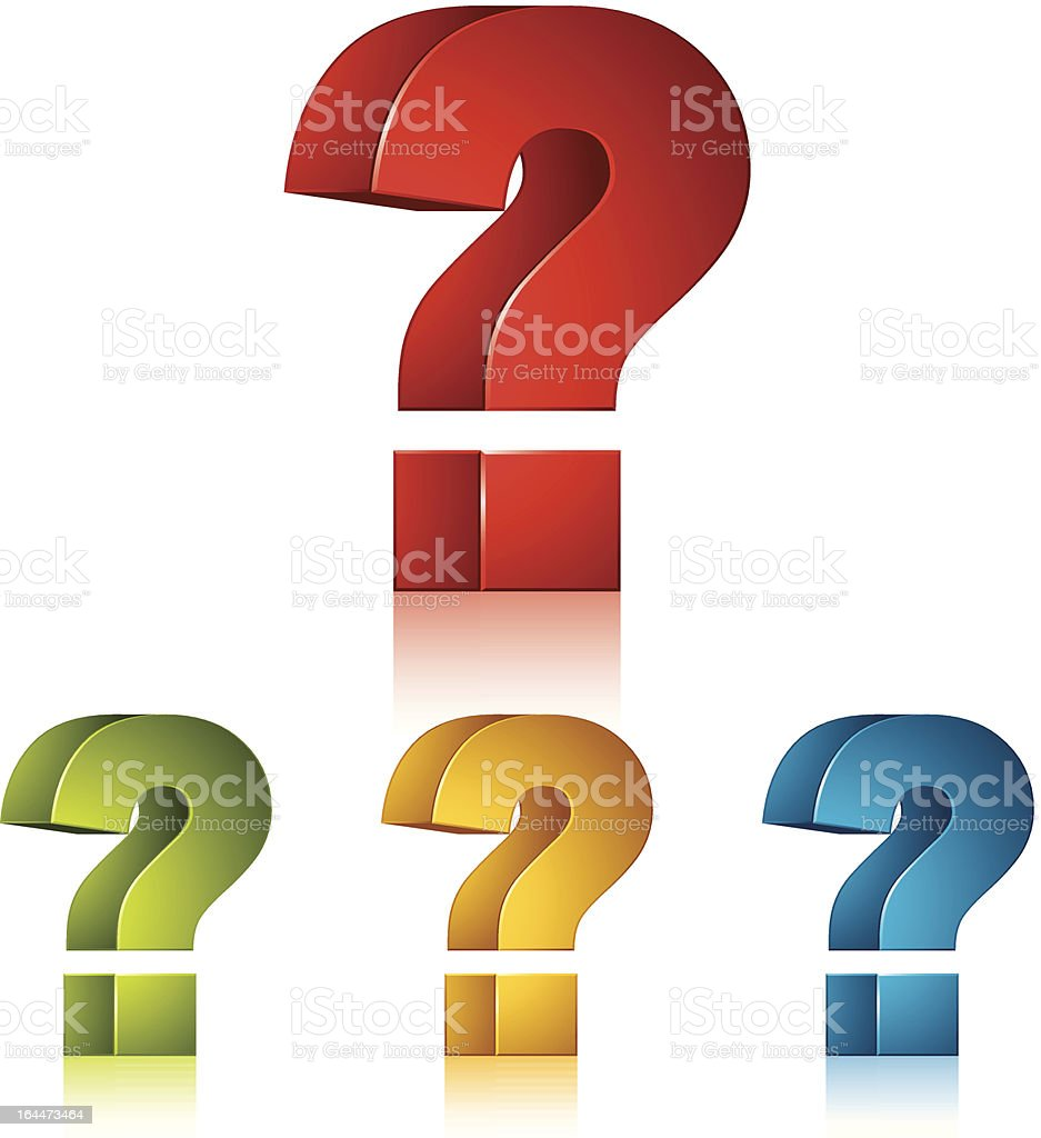 3d question mark vector icon. royalty-free stock vector art