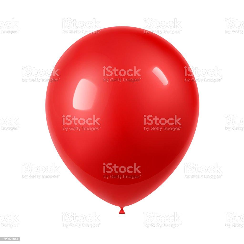3d Realistic Colorful Balloon vector art illustration