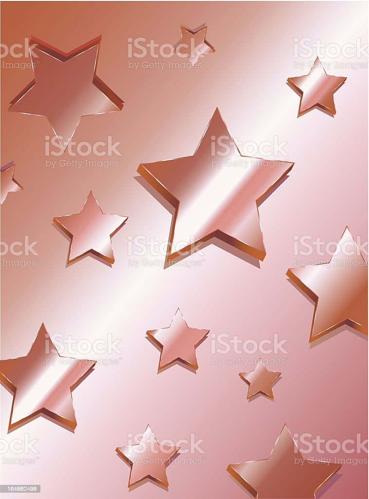 3d Red Stars royalty-free stock vector art