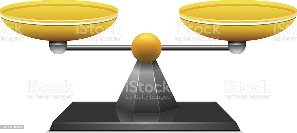 3d rendering of a silver and gold scale royalty-free stock vector art