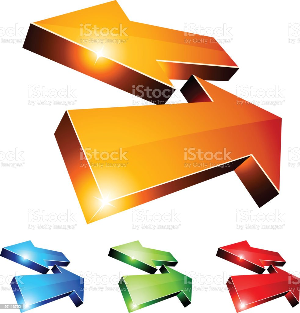 3d return arrows. royalty-free stock vector art