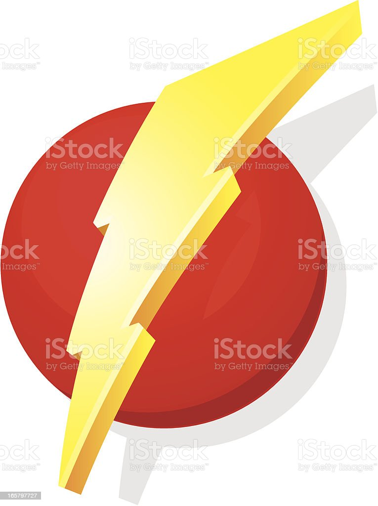 3d super bolt royalty-free stock vector art