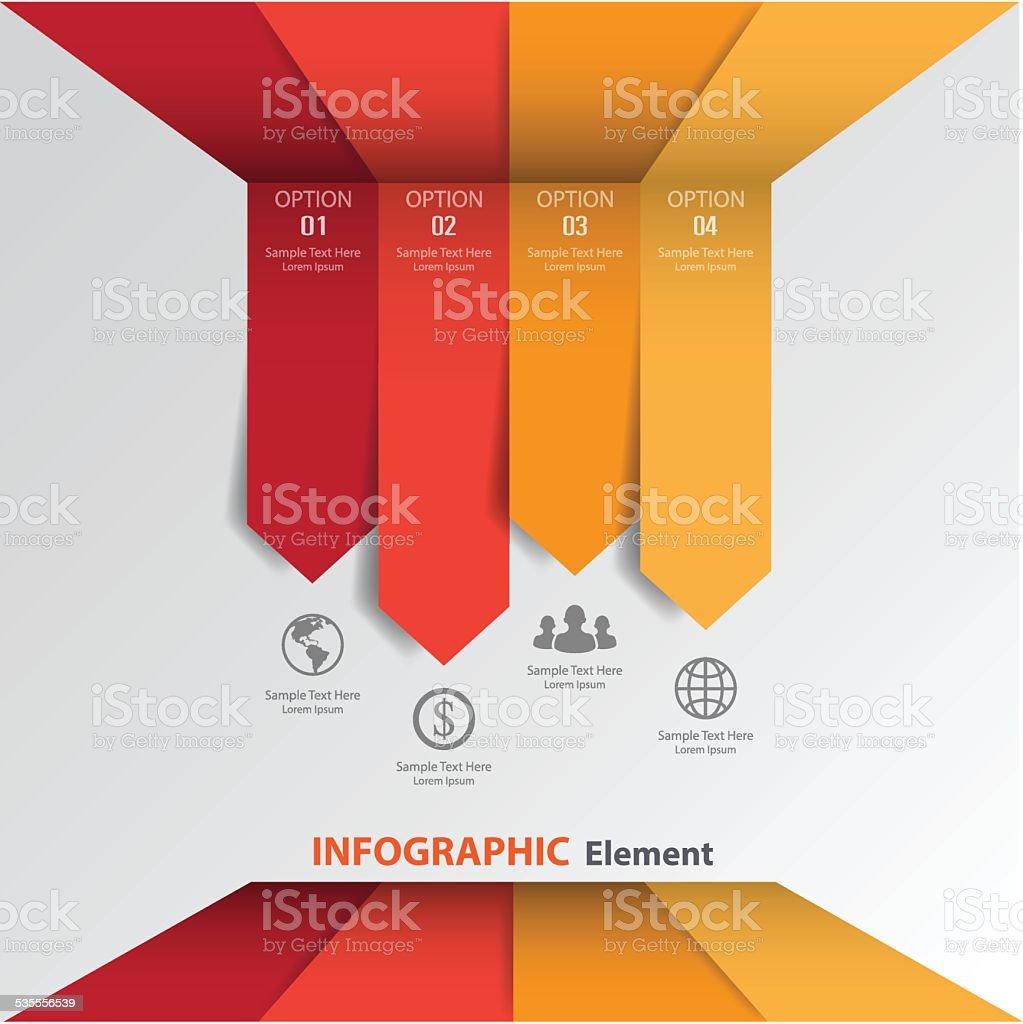 3d template Minimal arrow sign infographics used for web design. vector art illustration