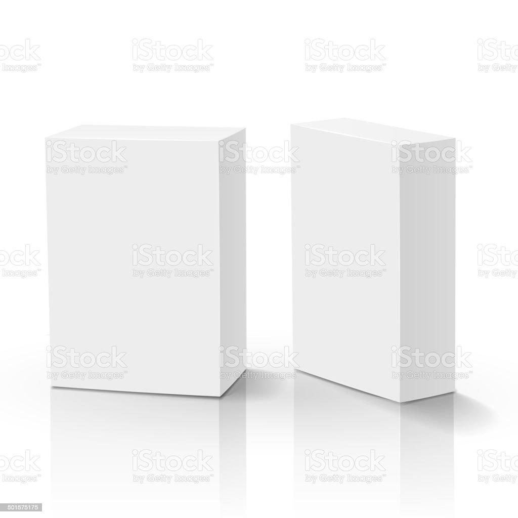 3d vector blank box isolated vector art illustration