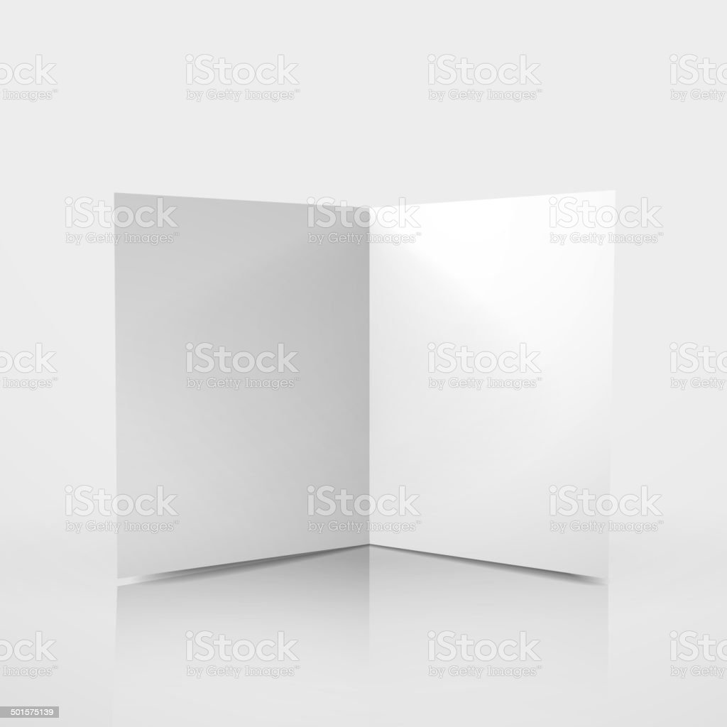 3d vector blank card template vector art illustration