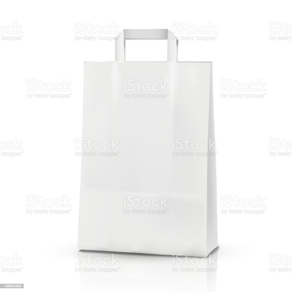 3d vector blank template, 3d shopping bag vector art illustration