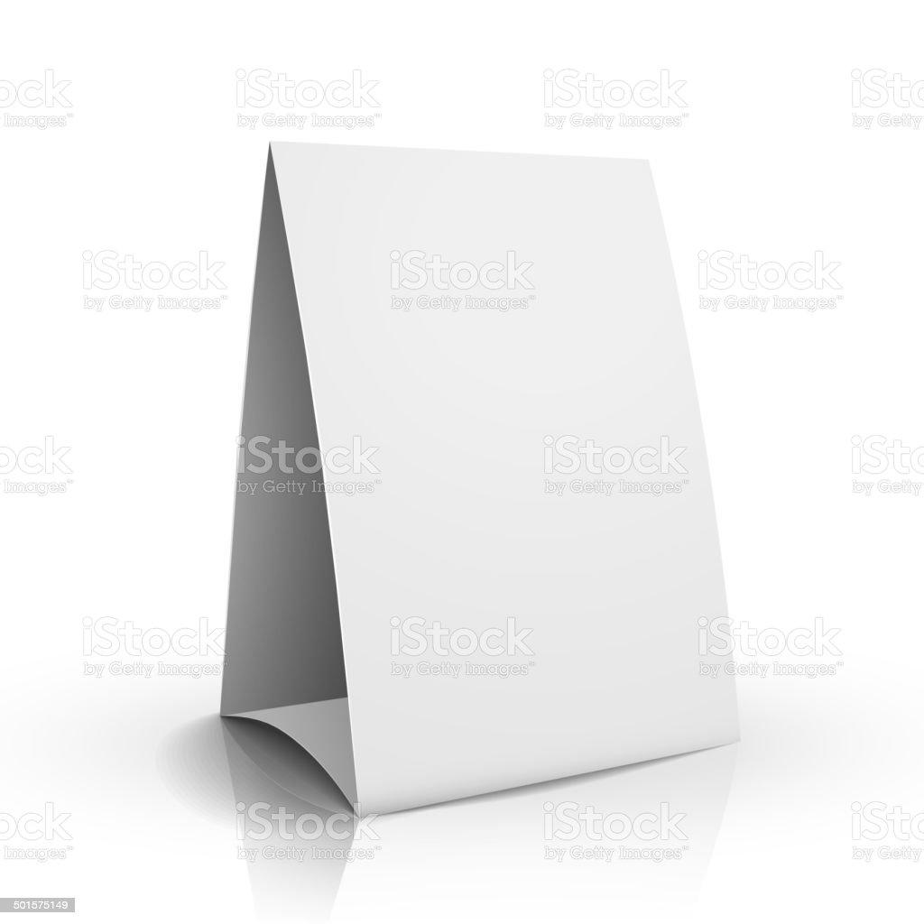 3d vector blank white paper table card vector art illustration