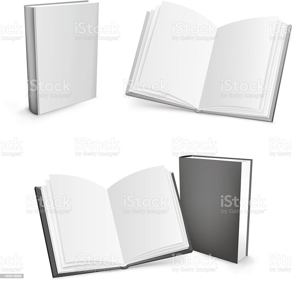 3d vector books royalty-free stock vector art