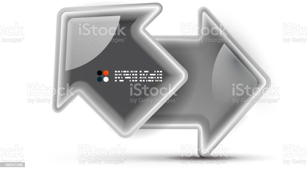 3d vector glossy arrow technology concept royalty-free stock vector art