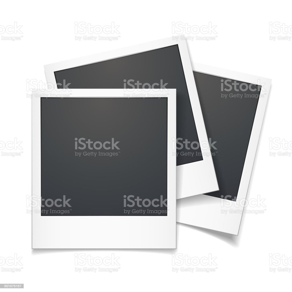3d vector polaroid photo frame vector art illustration