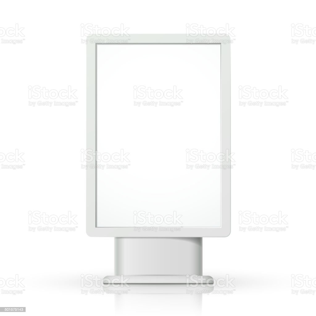 3d vector vertical blank lightbox template vector art illustration