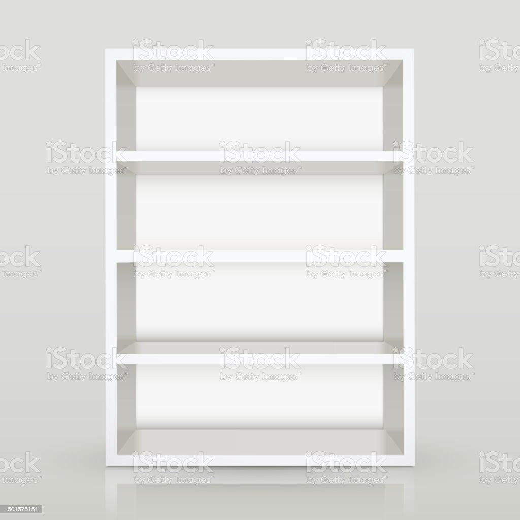 3d vector white blank shelf vector art illustration