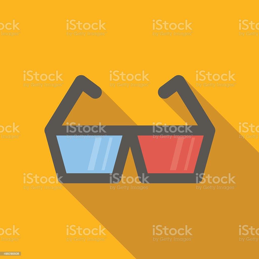 3d video flat icon vector art illustration