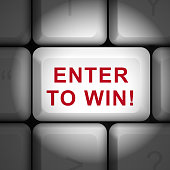 3d words Enter to Win button