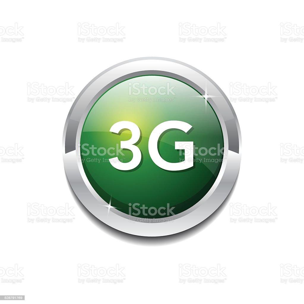 3g Sign Circular Green Vector Button Icon vector art illustration