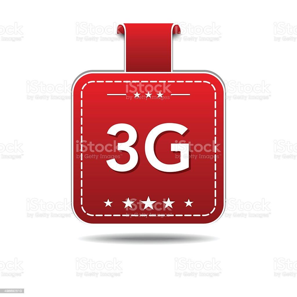 3g Sign Red Vector Icon Design vector art illustration