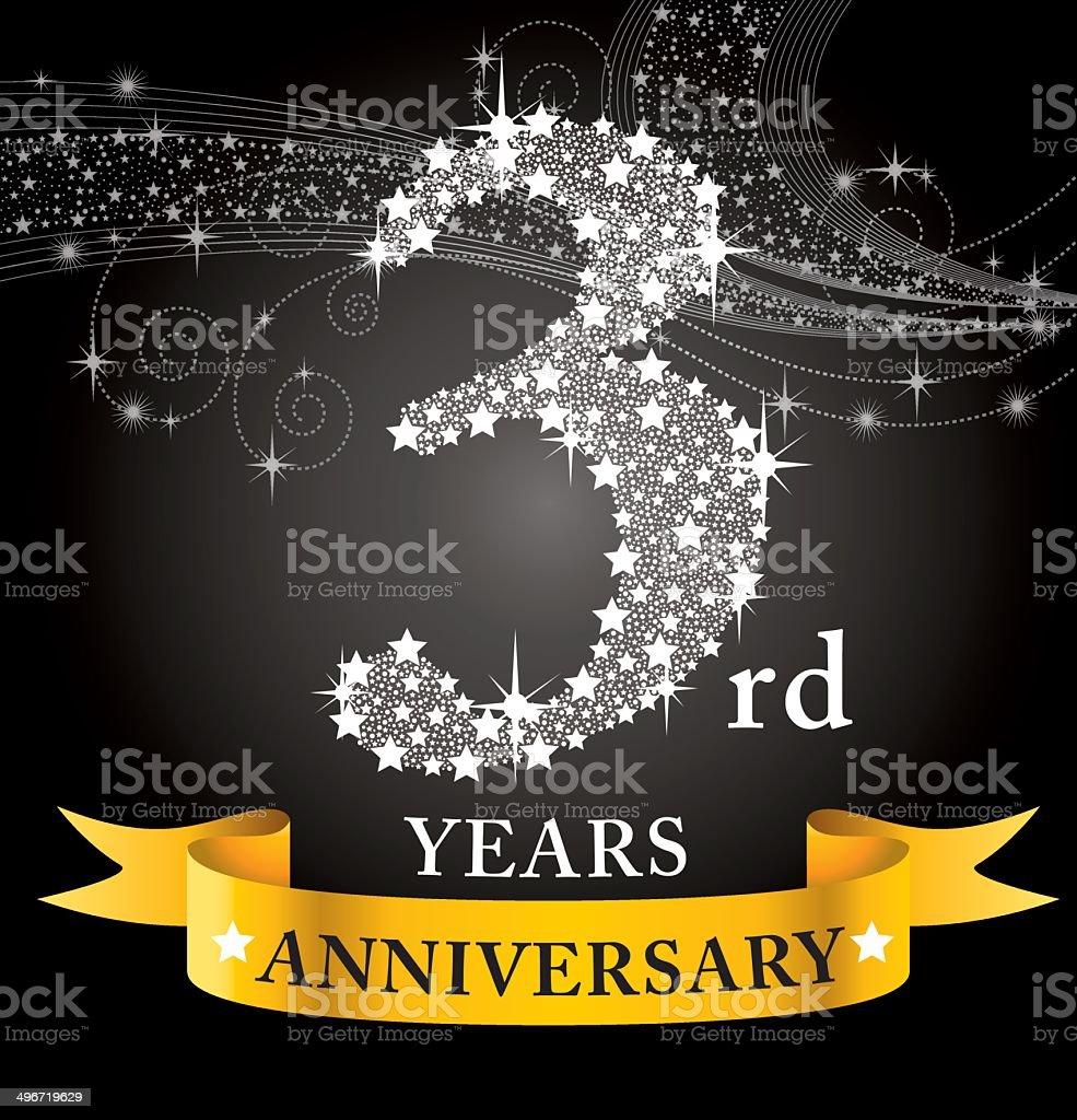 3rd Anniversary royalty-free stock vector art