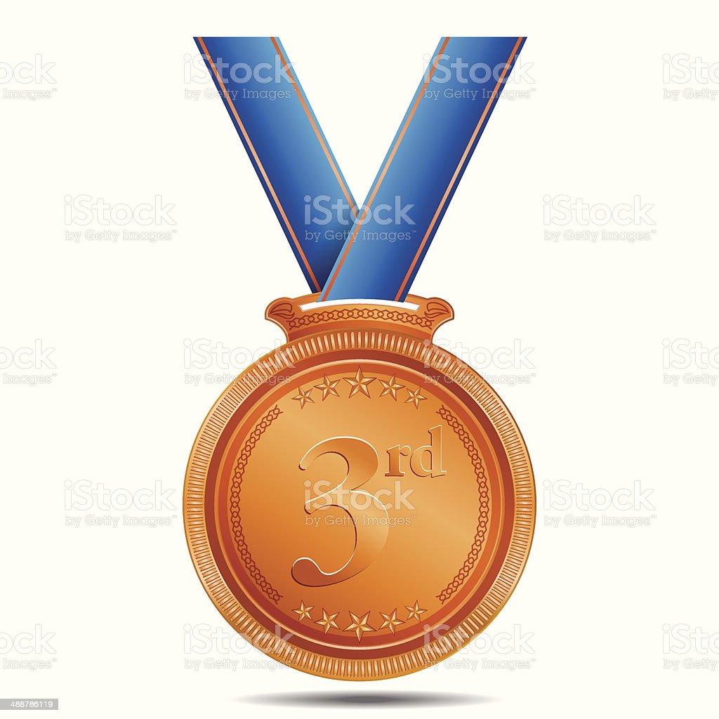 3rd Position Bronze Medal royalty-free stock vector art