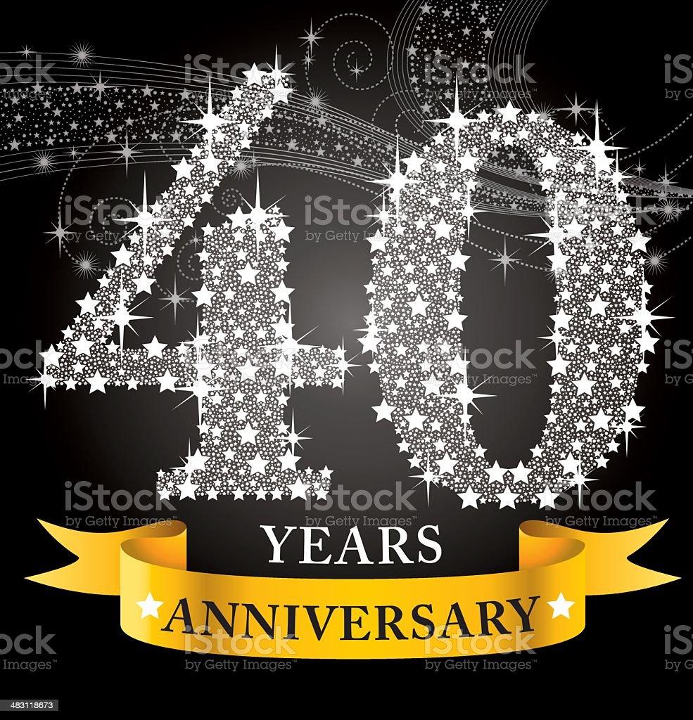 40th Anniversary royalty-free stock vector art