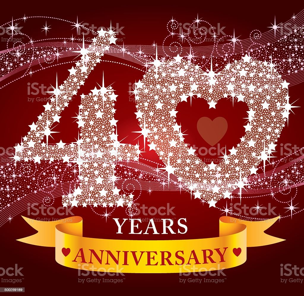 40th Anniversary royalty-free stock vector art