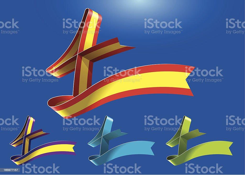 4th anniversary RibbonArt vector art illustration