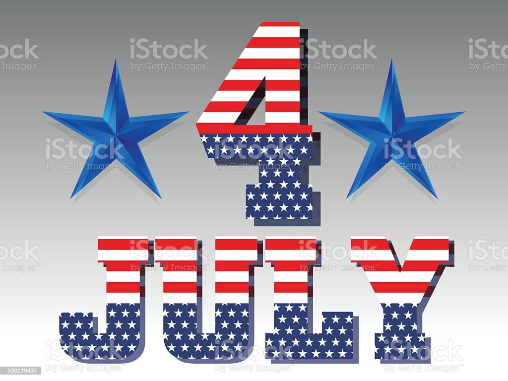 4Th July Background royalty-free stock vector art