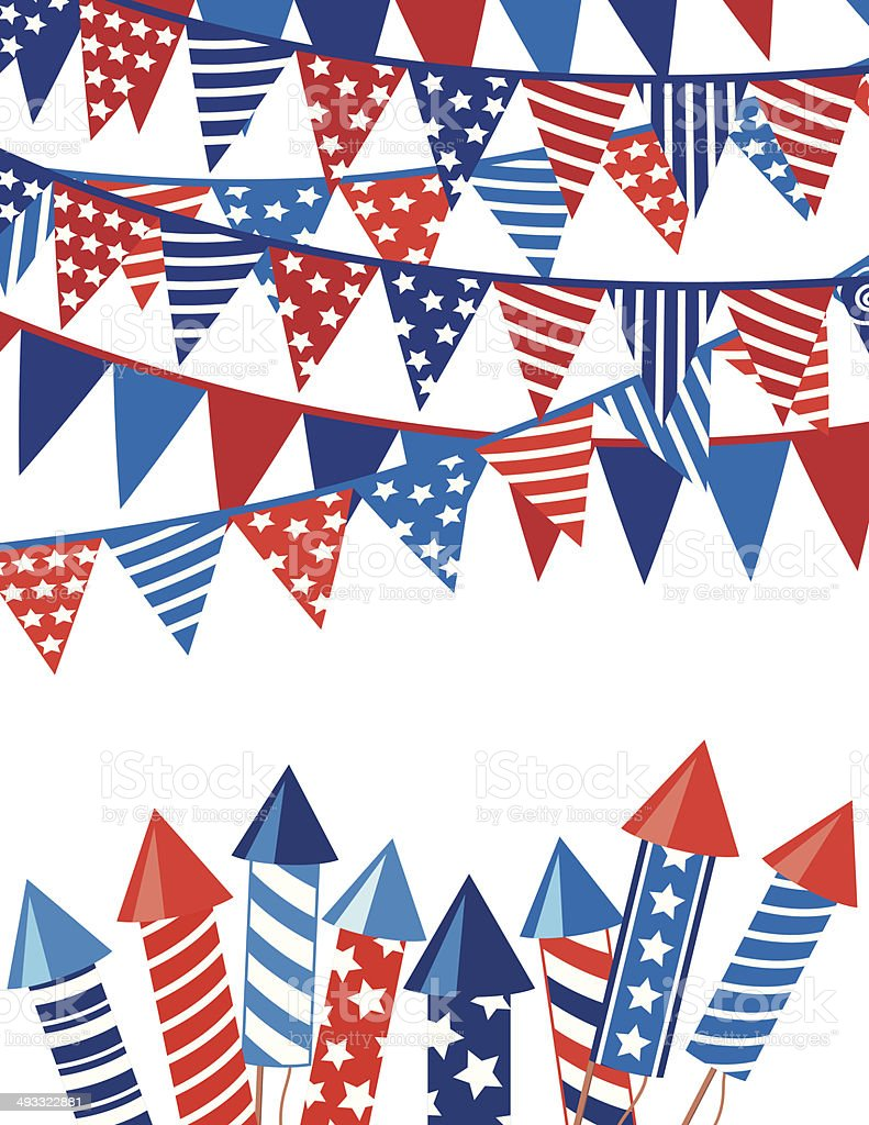 4Th of July Background royalty-free stock vector art