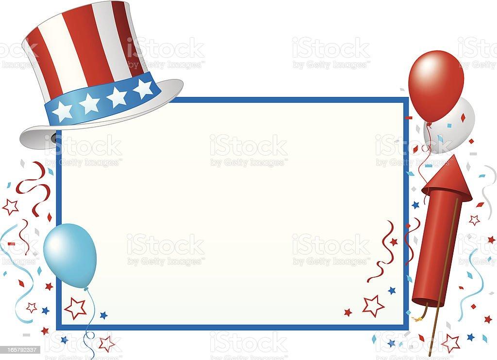 4th of July Invitation vector art illustration