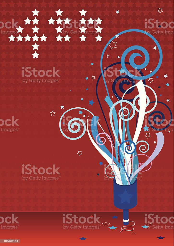 4th of July Party royalty-free stock vector art