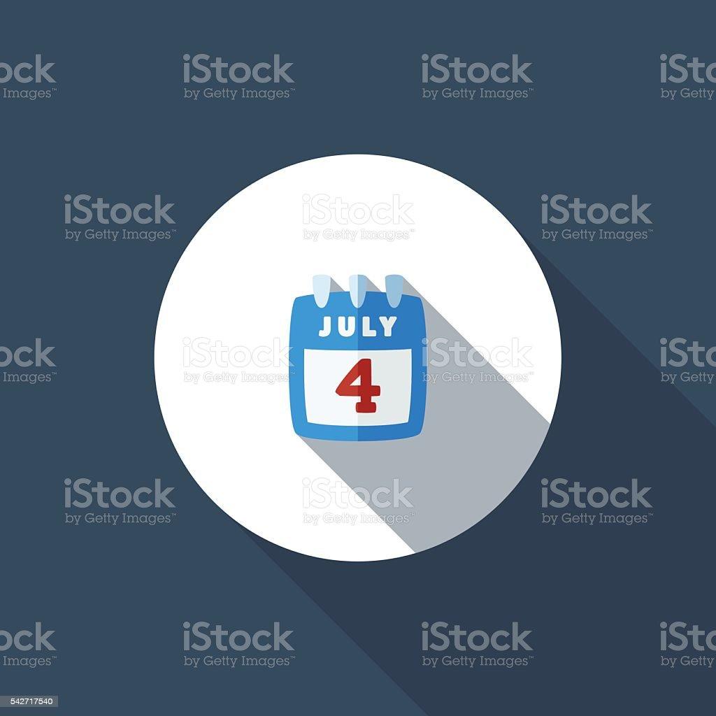 4th of July vector art illustration