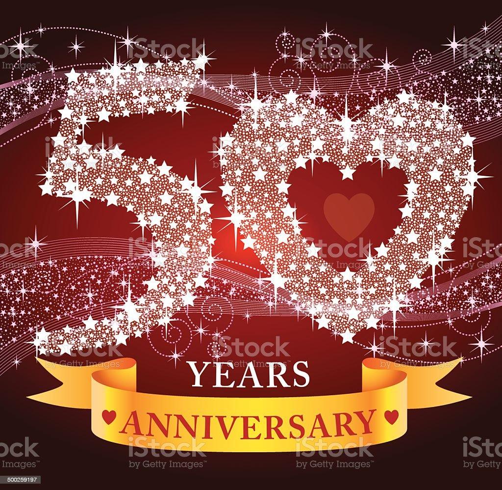 50th Anniversary royalty-free stock vector art