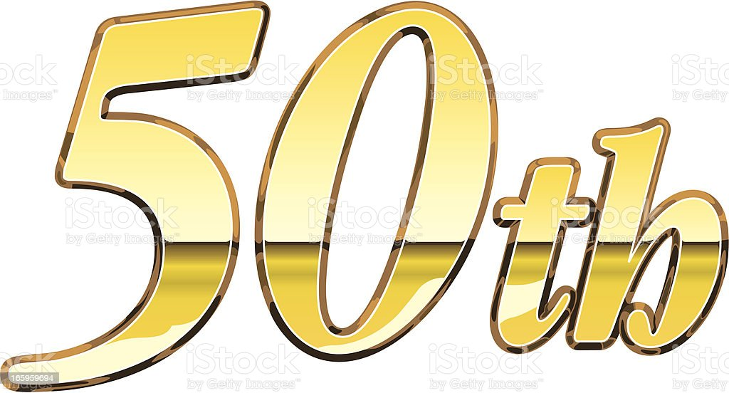 50th Sign royalty-free stock vector art