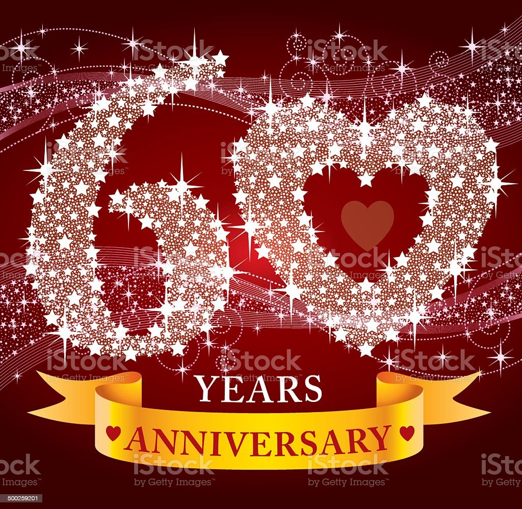 60th Anniversary royalty-free stock vector art