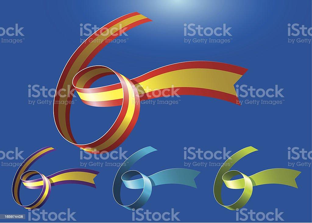 6th anniversary RibbonArt vector art illustration
