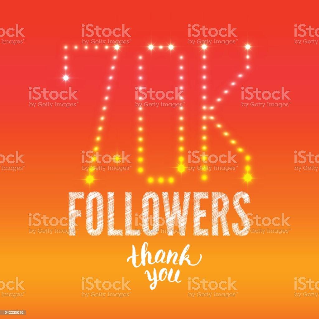 70K_followers vector art illustration