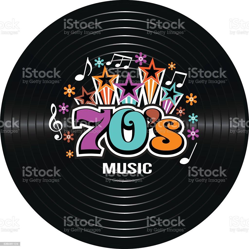 70s Music discography. Vector Illustration vector art illustration