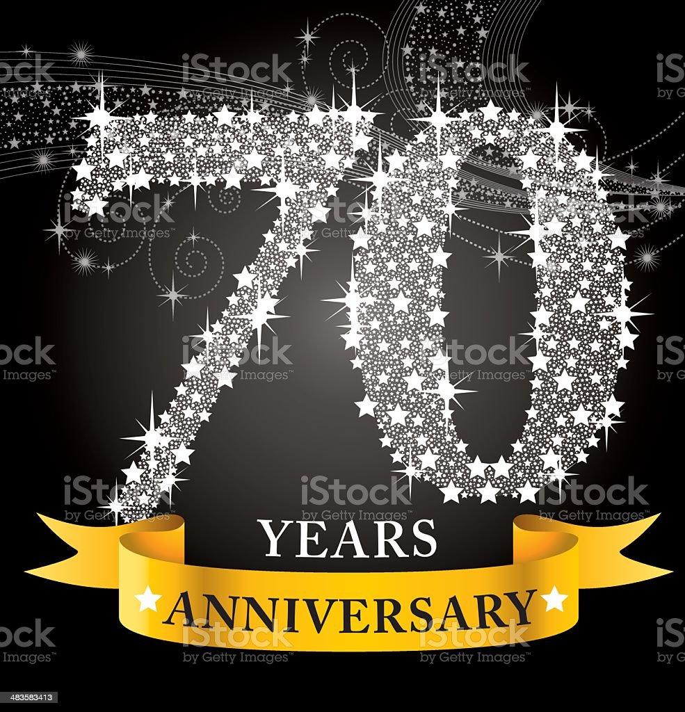 70th Anniversary royalty-free stock vector art