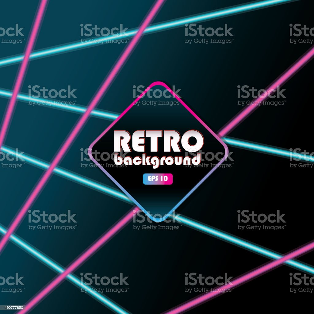 80s laser beam background design templates bright colorful vector art illustration
