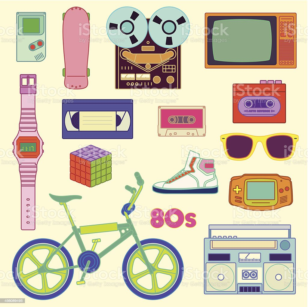 80s Retro vector art illustration