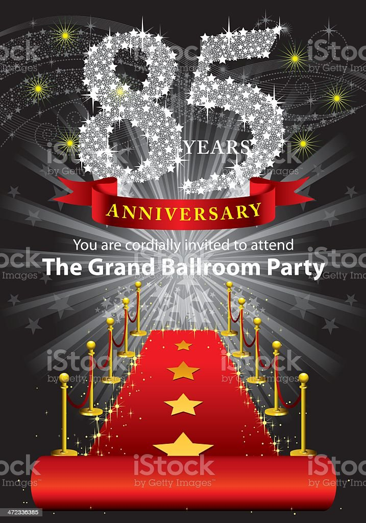 85th Anniversary Party royalty-free stock vector art