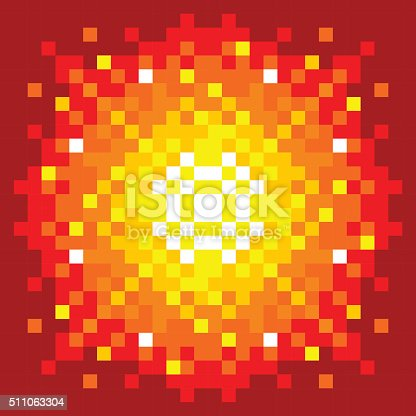 8bit pixelart firey explosion stock vector art 511063304. Black Bedroom Furniture Sets. Home Design Ideas