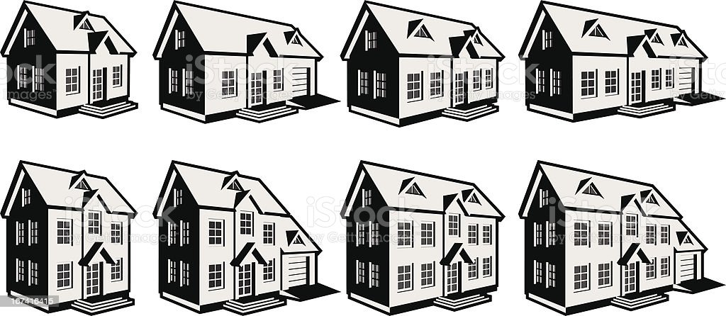 8homes vector art illustration