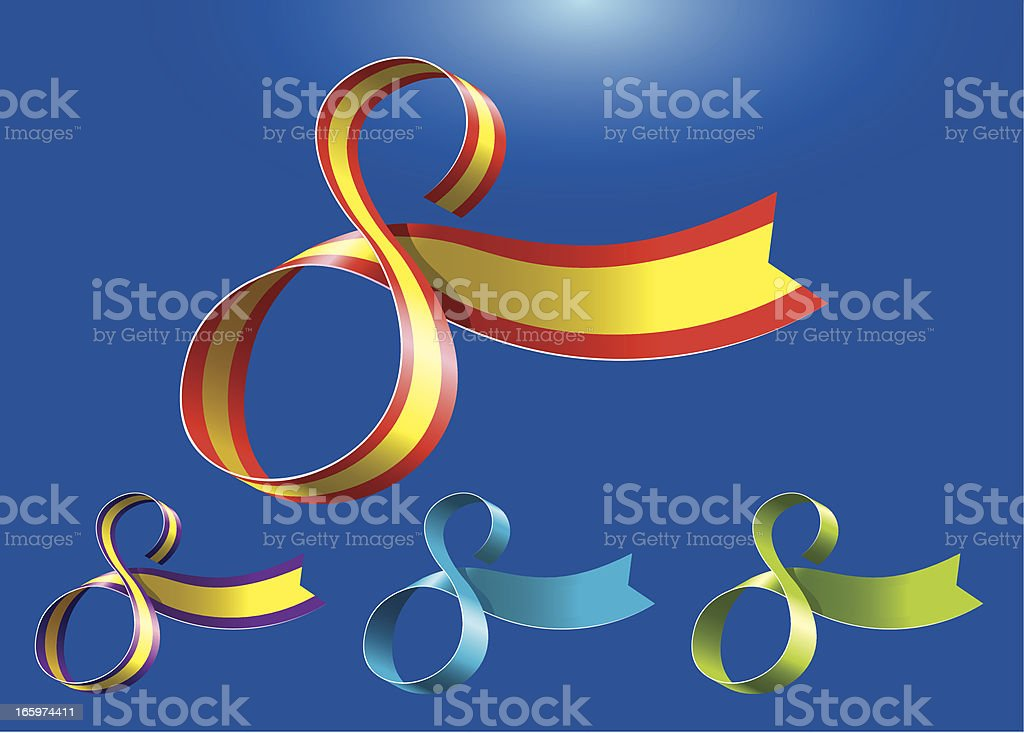 8th anniversary RibbonArt vector art illustration