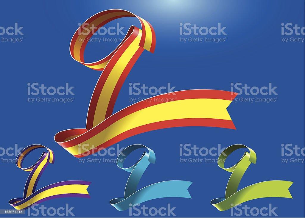 9th anniversary RibbonArt vector art illustration