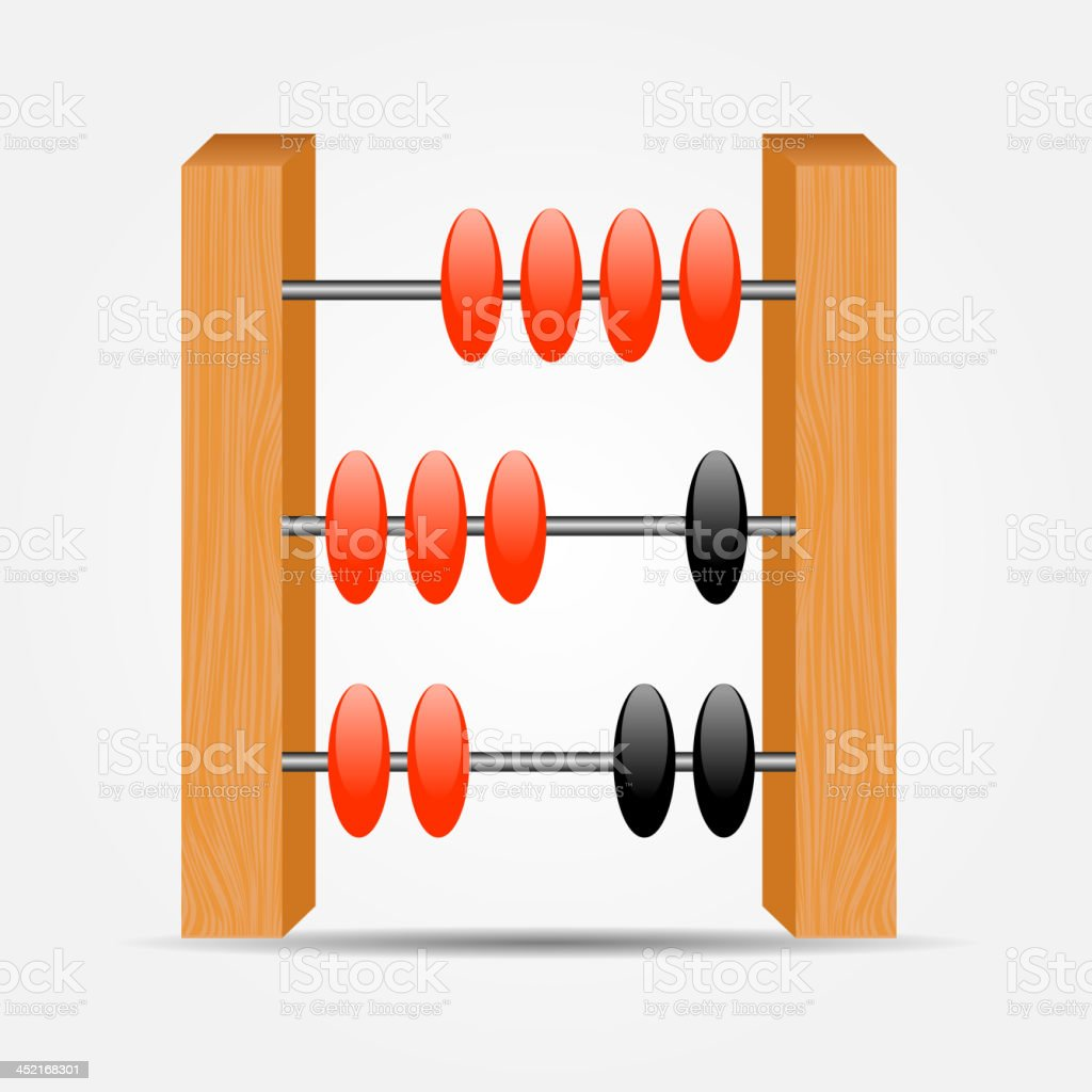 abacus icon vector illustration royalty-free stock vector art